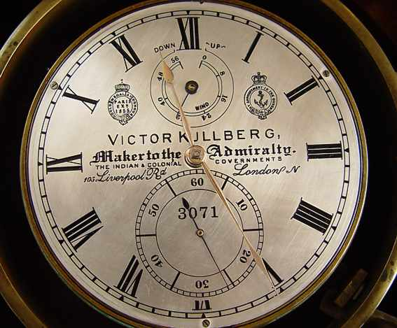 Marine chronometer VICTOR KULLBERG # 3071. London