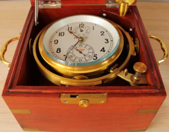 Russian marine ship chronometer ?POLJOT? serial number # 16201