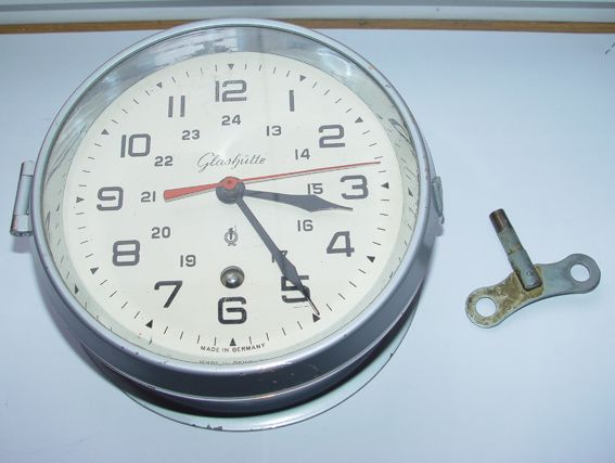 Marine ship, wall clock GLASHUTTE/Chronometer