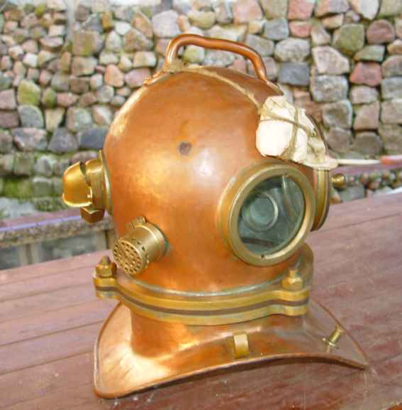 Original RUSSIAN 3- bolt  Diving Helmet, serial number of the item  # 397.