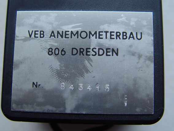 Anemometer / is made in Germany. Navigation toll!