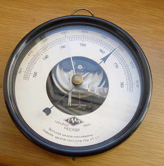 Marine Barometer #54202 / is made in USSR / Barograph