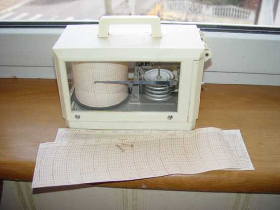 Barograph # 2964 is made in the USSR. sextant , navigation tools